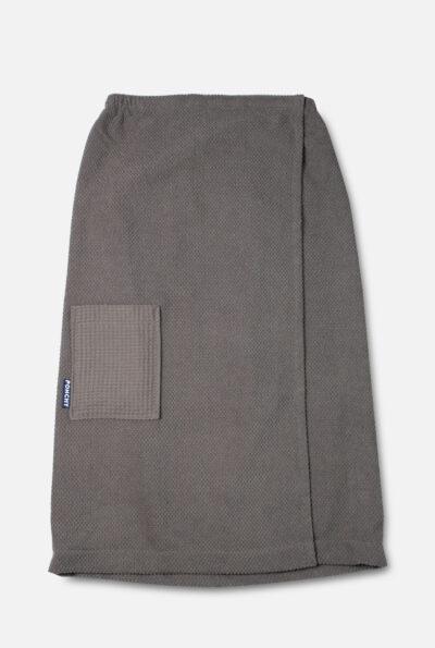 Cinza Escuro dames sauna handdoek