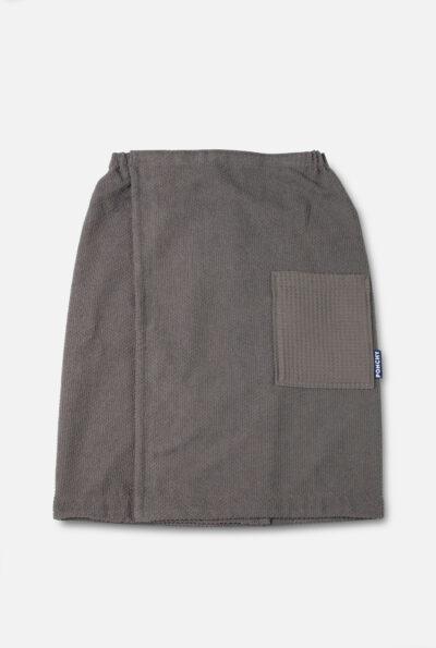 Cinza Escuro sauna handdoek heren